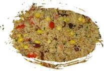 Ensalada de couscous al atún con frutas