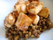 Salade de lentilles et coquilles Saint-Jacques