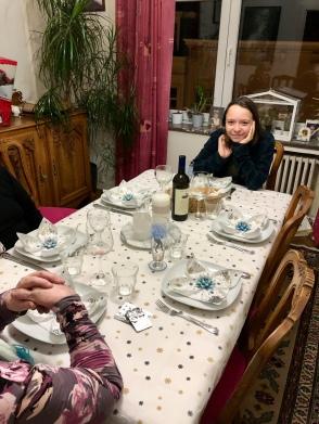 Morgane à table